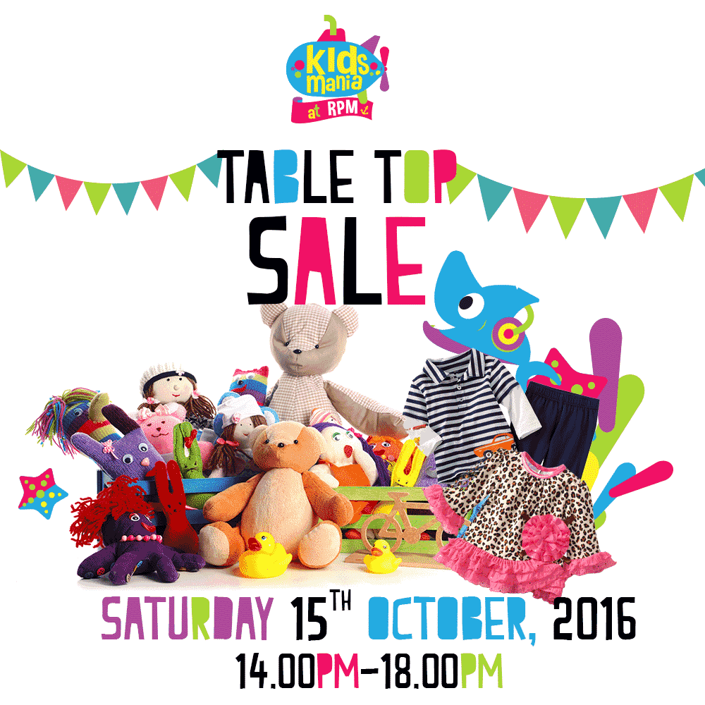 Phuket Kids Club table top sale